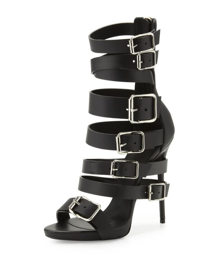 >> Click to Buy << Cheap Sexy Black  Women Shoes Leather Sandals Women Open Toe Heel Sandals Well Pump Covers Stiletto High Heels Ankle Strap Boots #Affiliate