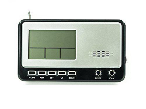 Radio Réveil Portable – Thermomètre intégré – Radio FM/Alarme/Compte à Rebours/Rappel d'Anniversaire – Fonctionne avec Piles – Gris: Radio…