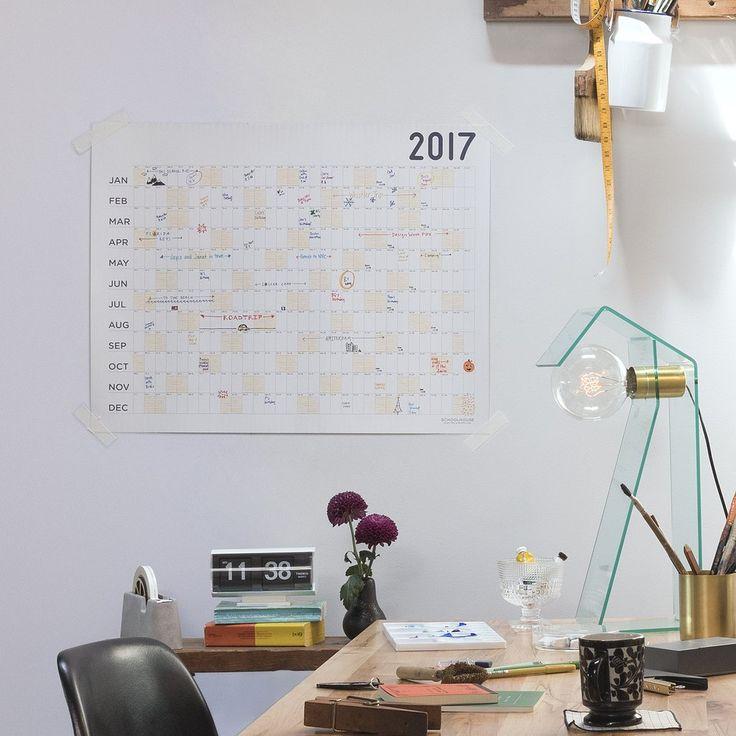 Egg Press x Schoolhouse Big Picture Calendar 2017 | New Office | Schoolhouse Electric