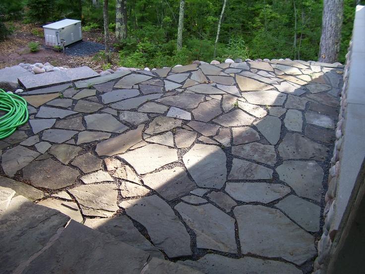 Huntinrod project bayfield wisconsin side flagstone for Landscaping rocks kelowna