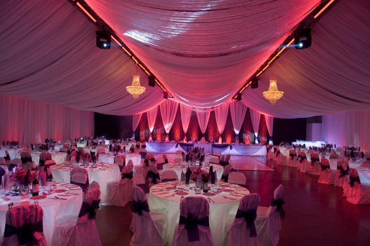 Celling Draping with LED Up Lighting