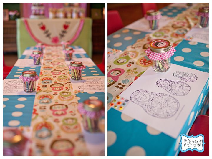 2 year old party ideas | The Littlest Matryoshka 2 year old birthday party!