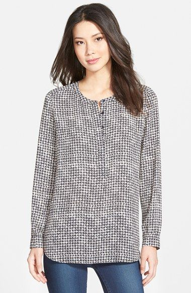 NYDJ Print Woven Tunic (Regular & Petite) available at #Nordstrom