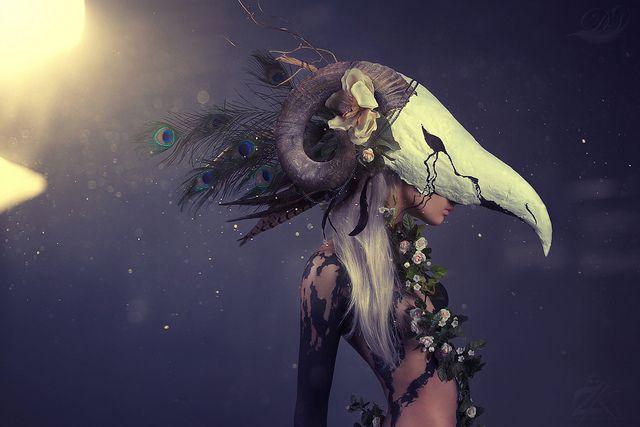 Aries Flickr  Photography - Zim Killgore / Darshelle Stevens Mask - Darshelle Stevens  Body Paint - Zim Killgore  Model - Amanda Darling Studio - & Imagine
