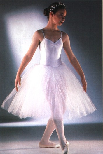 White ballet costume for Penny - add feathers