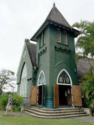 HANALEI — It's not everyday you see a church with a backdrop of cascading waterfalls and a teeming jungle. Yet, this is where the 103-year-old Waioli Church in Hanalei, Kauai, Hawaii stands.