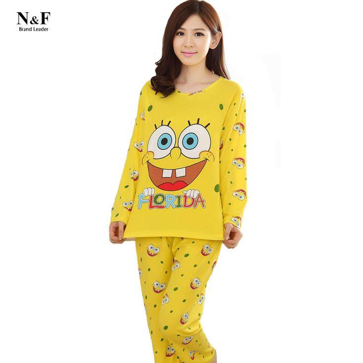 Bob esponja Pijama Femme Pigiami Primark Entero Mujer Feminino Pijama Pijama Pijamas Pijamas de Las Mujeres ropa de Dormir Pijamas Pigiama