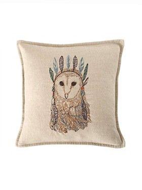 Owl Portrait Pillow