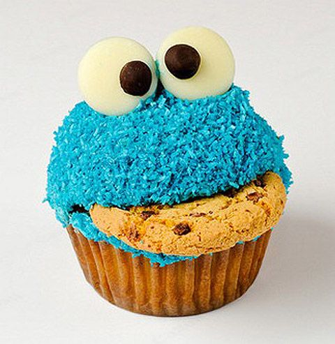 Best cupcake ever :]: Cookie Monster, Ideas, Cookie Monster Cupcakes, 1St Birthday Parties, Recipe, Cookies Monsters Cupcakes, Food, Monstercupcak, Cupcakes Rosa-Choqu