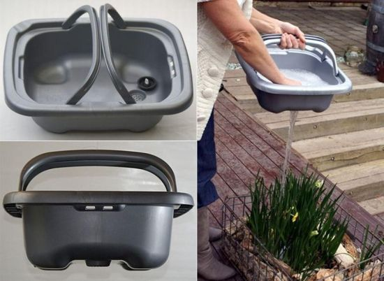 Recycle Used Water With Removable Kitchen Sink Grey