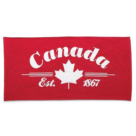 style factory™/MC 'Canada Day' Velour Beach Towel