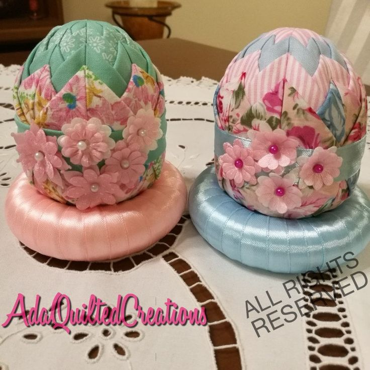 New decorative folded fabric 10 cm Easter eggs available now! Perfect for gifts this Easter