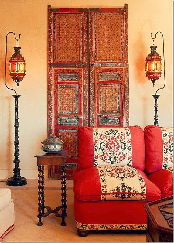 Top travel-inspired decor ideas Moroccan, I love the lantern stands... I wonder if I could make something similar...?