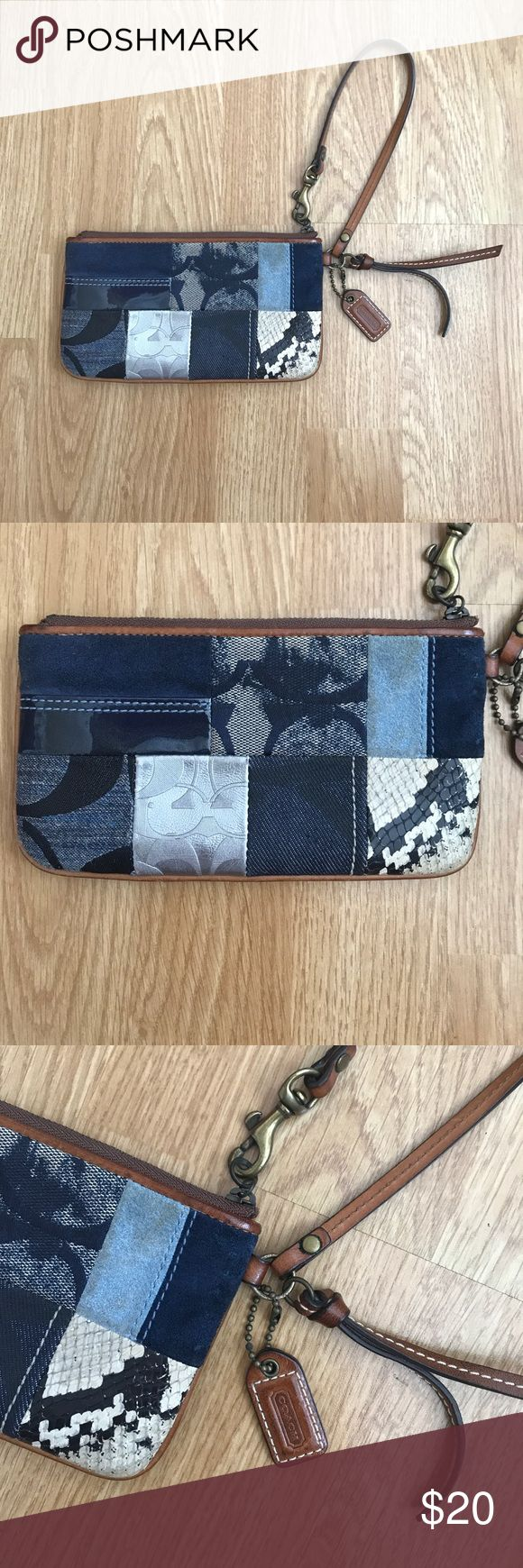 """Coach clutch pouch Good condition. Minor exterior marks (see photo). Dimensions- L 7.25"""" x W 4"""" Coach Bags Clutches & Wristlets"""
