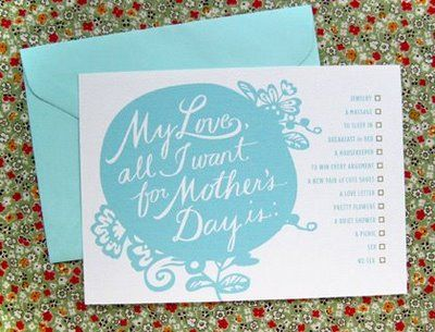 DIY  : Free Printable Mother's Day card