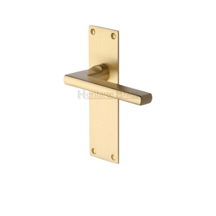Trident Low Profile Door Handles On Backplate