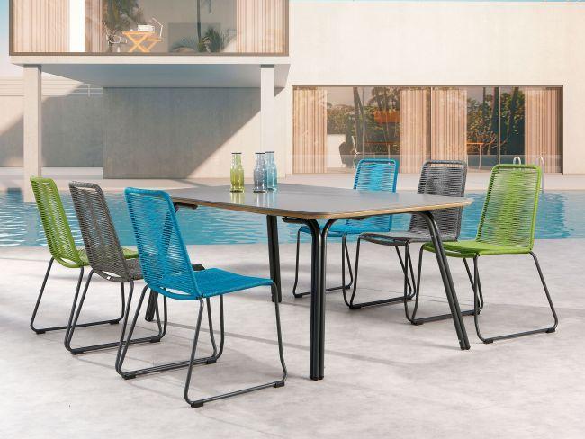 Moderne Garten Essgruppe Symi Esstisch Beton 6 Stuhle