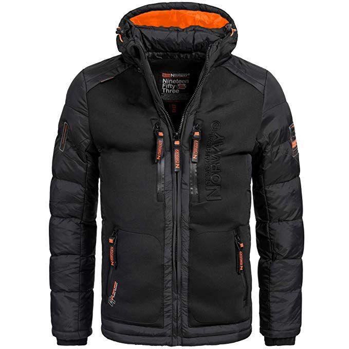 bf8079d92a14c2 Geographical Norway BREVSTER Herren Winterjacke Jacke Outdoor Ski warm Gr.  S-XXXL 2-Farben, Größe:S;Farbe:Schwarz