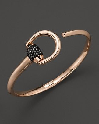 Gucci Marina Bracelet with Black Pave Diamonds | Bloomingdale's