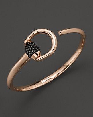 Gucci Marina Bracelet with Black Pave Diamonds @}-,-;—