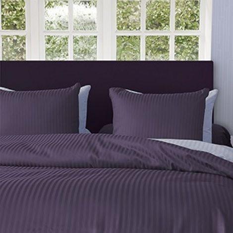 Refined HNL Refined uni stripe satijn vintage purple dekbedovertrek set paars,hotel kwaliteit  dealer slaapkenner theo bot
