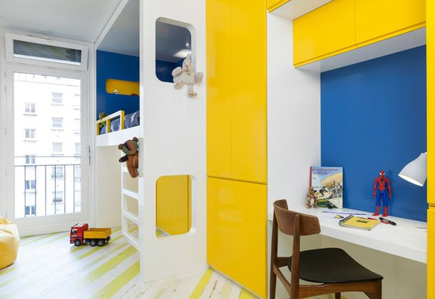 Квартира для отца-одиночки в Париже, 73 м²