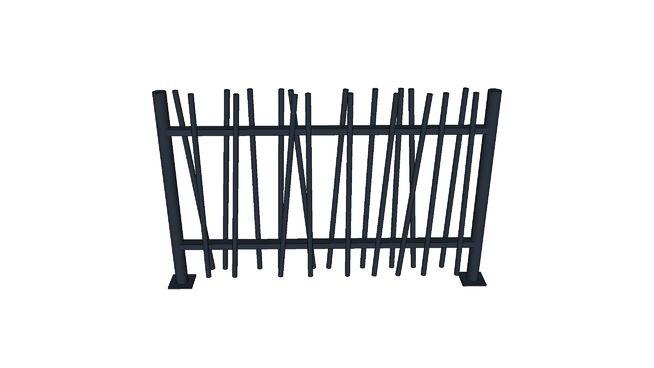 Panneau de clôture Oobamboo 150cm - 3D Warehouse