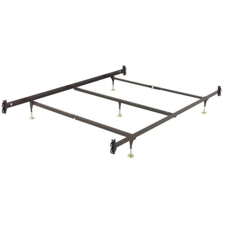 queen size metal bed frame with hook on headboard footboard