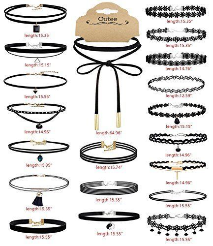 20 PCS Black Choker Necklaces Set Womens Velvet Fashion Classic Charm Girls New #Necklace