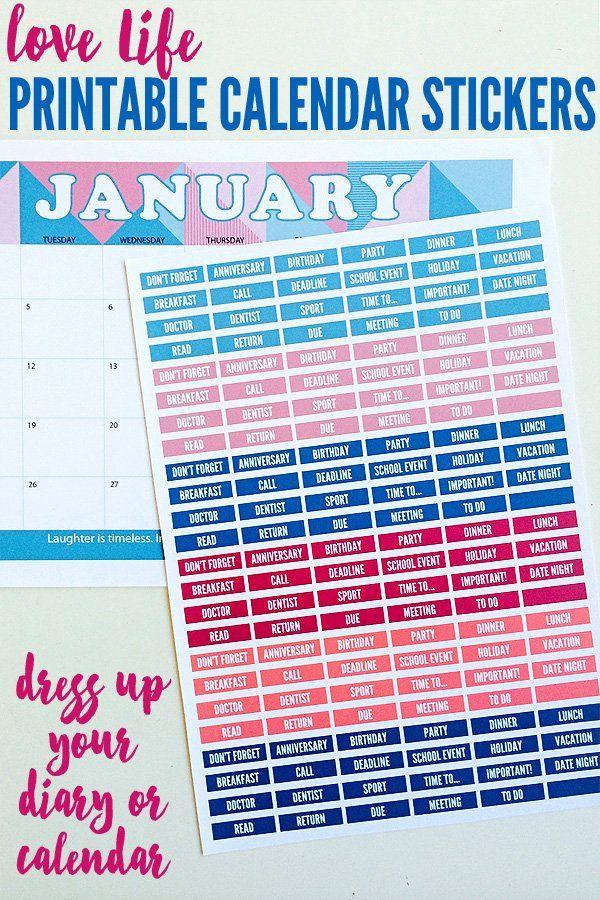 Best 25+ Calendar stickers ideas on Pinterest College planner - sample birthday calendar