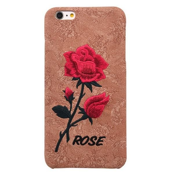 KISSCASE Beautiful Rose Flower Case For Apple iPhone 7 6s 7 Plus Case For Samsung Galaxy S7 s6 Edge S8 S8 Plus Embroidery Cover