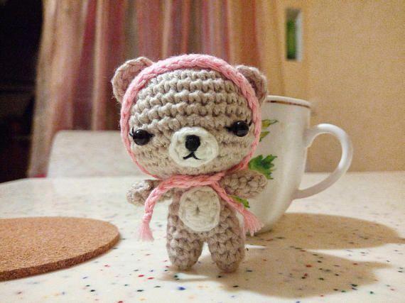Plush Teddy Bear, Cute Teddy Bear, Crochet Mini Bear, Miniature Teddy Bear, Christmas Decor, Birthday Gift Baby, Amigurumi, Toy, Souvenir #amigurumi #minitoy #beartoy #plushtoy #plushbear #bearcrochet