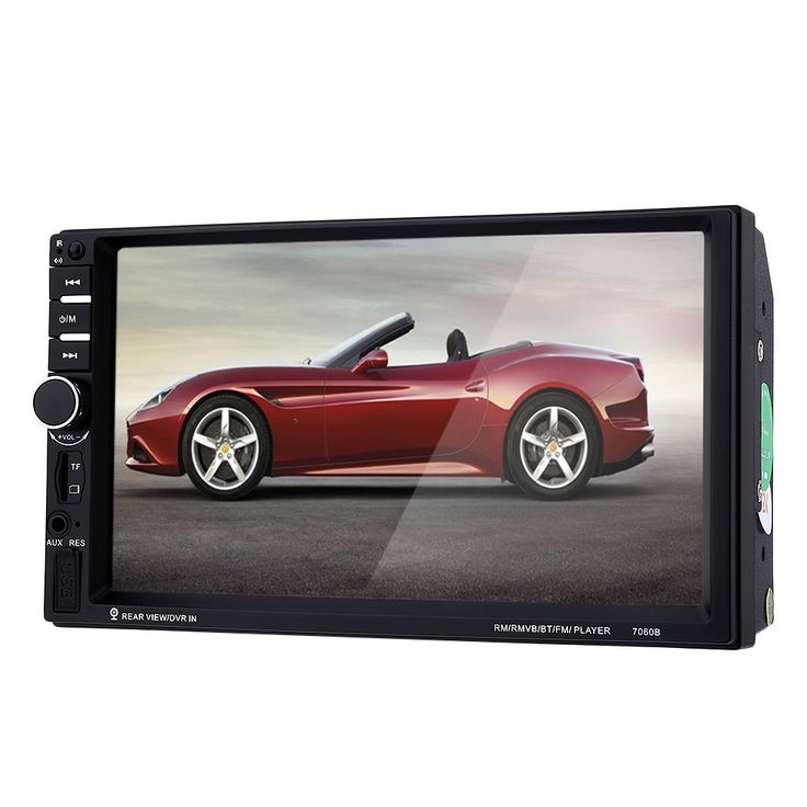 Hot 7060B 2 Din Mobil Radio 7 inch 1080 P Touchscreen Auto MP4/MP5 Video Player Dengan Kamera Belakang mikrofon Dukungan steering-wheel