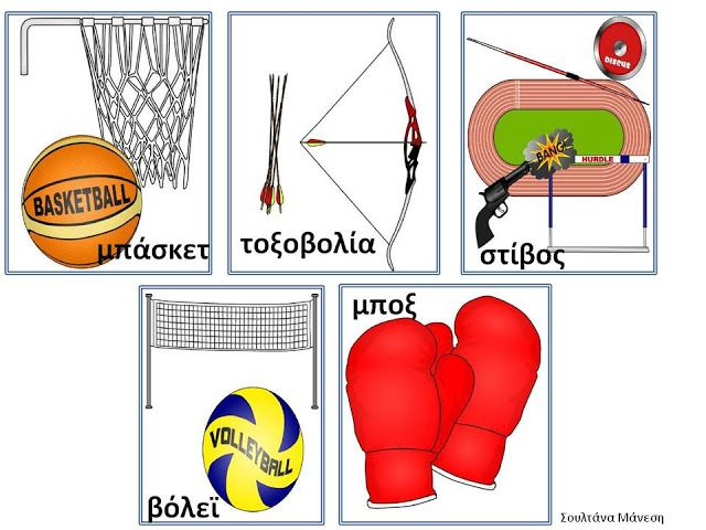 Δραστηριότητες, παιδαγωγικό και εποπτικό υλικό για το Νηπιαγωγείο: Πίνακας Αναφοράς με τα Ολυμπιακά Αθλήματα