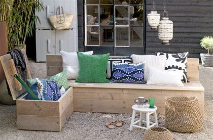 Opbergbank maken #DIY #garden