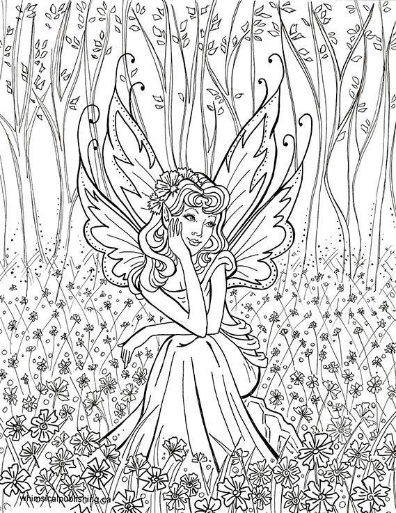 FairyColoring Pages For Adults
