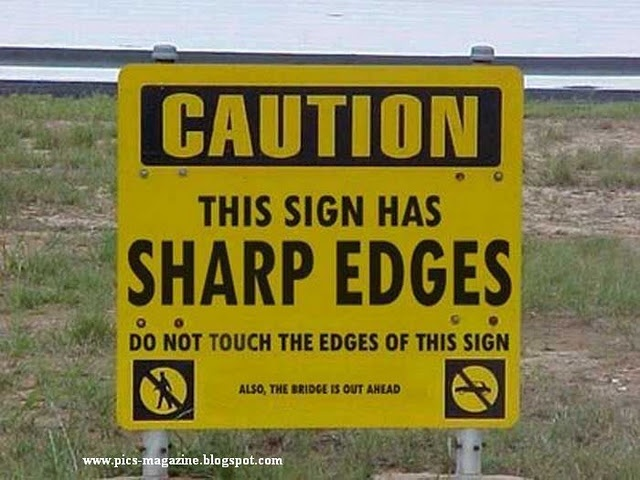 Wow-Leave this sign alone