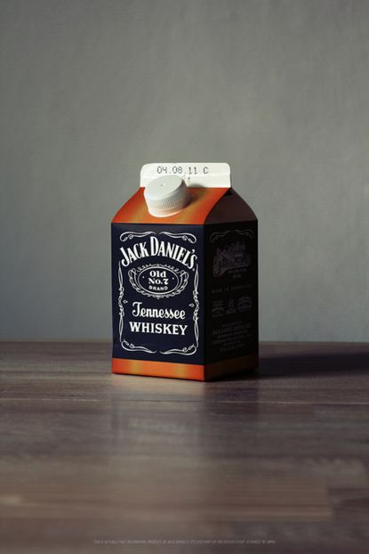 jackdaniels :)Funny Image, Jack Daniel, Packaging Design, Lunches Boxes, Graphics Design, Milk Cartons, Guerrilla Marketing, Jack O'Connel, Cups Of Coffee