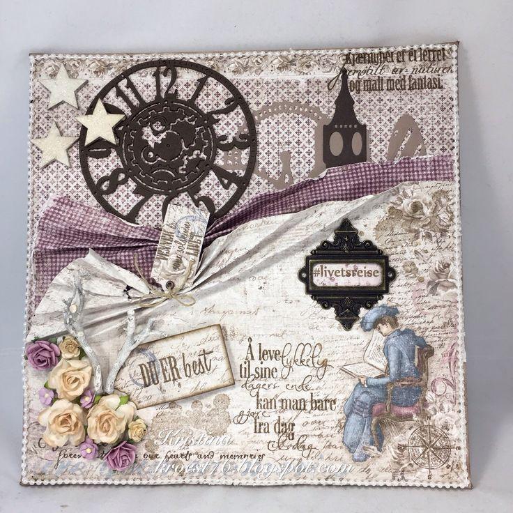 Lerret, canvas, mixed media, Maja design, North Star Design, North Star Stamps