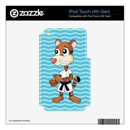 Taekwon-do tiger cartoon iPod skin