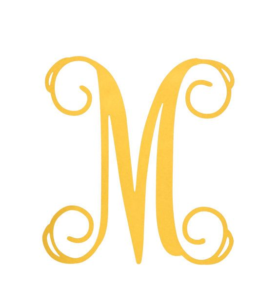 18x3/8 inch Unfinished M MONOGRAM Letter by BuildACrossCanton, $14.99