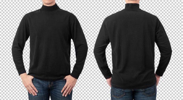 Download Plain Black Long Sleeve T Shirt Mockup Template For Your Design Shirt Mockup Tshirt Mockup Black Long Sleeve