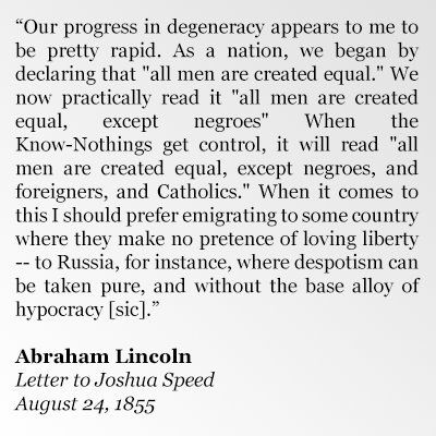 """Garry Kasparov on Twitter: """"Words to ponder from the first Republican president, who helped fend off the original Know-Nothings. Also appropriate for MLK Jr Day."""""""