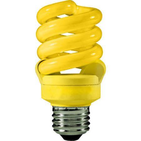 TCP 48913Y -13 Watt Full Compact Fluorescent Bulb, Med. Base, Yellow