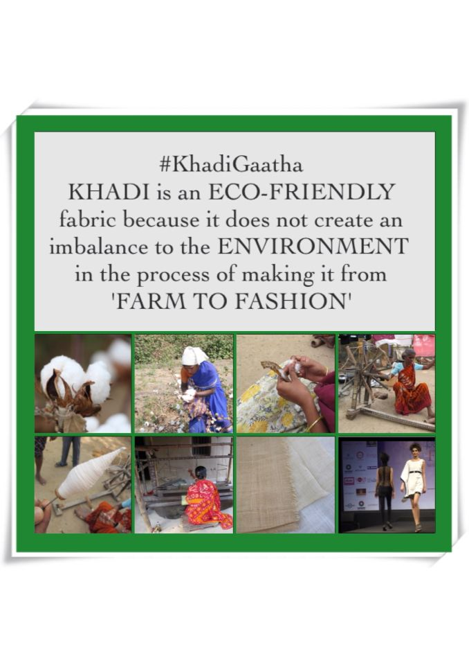 Reason why #Khadi is known as the #EcoFriendly fabric. #EcoFashion #Weavers #GoGreen
