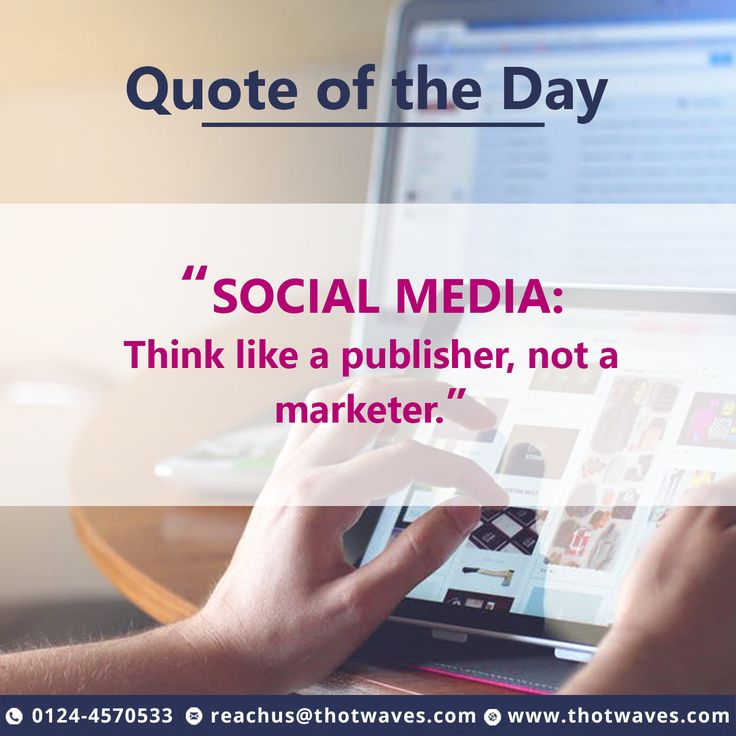 #ThotwavesInnovations #SocialMedia #Quote for the #Day...!!!