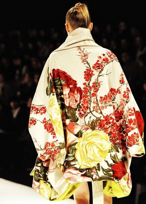 Flowerful kimono by Kenzo.