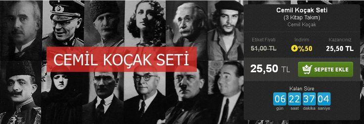 Günün Fırsatı: %50 İNDİRİM!  Cemil Koçak Seti (3 Kitap Takım) Cemil Koçak Timaş Yayınları  http://www.hesapkitap.com/cemil-kocak-seti.html