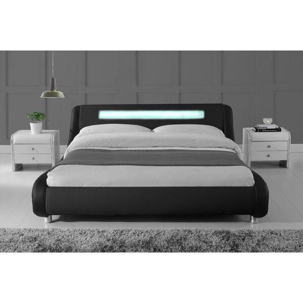 Karratha Upholstered Low Profile Platform Bed Leather Bed Frame Bed Frame With Mattress Leather Bed