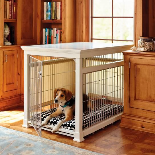 Luxury White Pet Residence Dog Crate Part 77